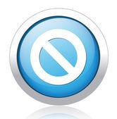 Denied silver blue button design — Vecteur