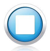 Stop silver blue button design — Stock Vector