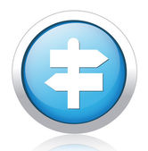 Direction indicator button design — Vettoriale Stock