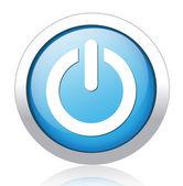 Vector illustration of power button — Stock Vector