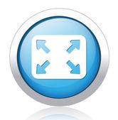 Full screen mode button design — Stock Vector
