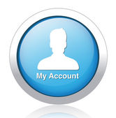 Icon account profile button — Stockvector