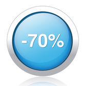 70 percent off — Stock Vector