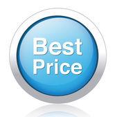 Best Price silver blue button design — Stok Vektör