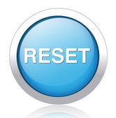 RESET silver blue button design — ストックベクタ