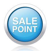 SALE POINT blue button design — Stock Vector