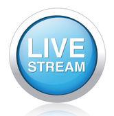 Ícone de transmissão ao vivo — Vetor de Stock
