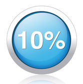 10 percent icon — Stock Vector