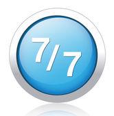 7 per 7 icon — Stock Vector