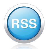 Rss circle web glossy icon — Stock Vector