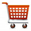 Vector shopping cart — Stock Vector