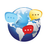 Global social network icon — Stock Vector