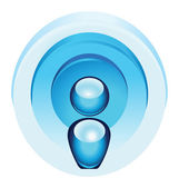 Blue radio wave icon — Stock Vector