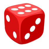 Red dice — Stock Vector