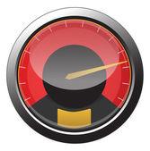 Speedometer icon — Stock Vector