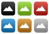 Mountains Sign — Zdjęcie stockowe