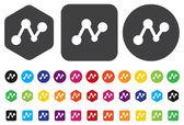 Concept network icon — Stock Vector