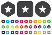 Ikona hvězda oblíbené webové — Stock vektor