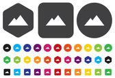 Pyramids icon — Stock Vector