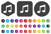 Music note button — Stock Vector