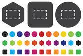 Doted button — Stock Vector