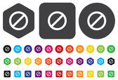 Not Allowed Sign, vector — Stock Vector
