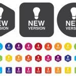 New version button — Stock Vector