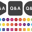 Question & Answer button — Stock Vector #47233727