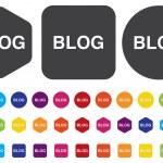 Blog icon — Stock Vector #47234689