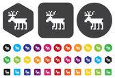 Deer icon — Stock Vector