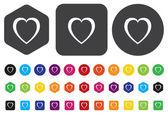 Heart  button — Stock Vector
