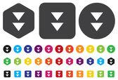 Media player button — Stock Vector