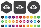 Botão do ícone de carro — Vetor de Stock