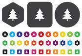 Tree icon — 图库矢量图片