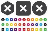 Delete remove button — Vector de stock