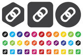 Linked icon — Stock Vector