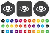 Icona occhio — Vettoriale Stock