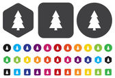 Icono de árbol — Vector de stock