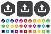Upload icon, graphic design element — Stock Vector