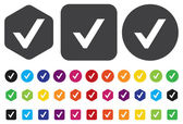Vector confirm icons — Vettoriale Stock