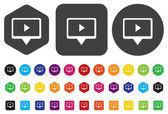 Play video button — Stock Vector