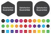 Customer satisfaction guaranteed button — Stock Vector