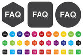FAQ button — Stock Vector