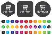 Buy now  e-commerce buttons and icons — Stock Vector