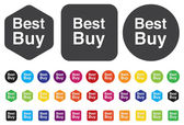 最佳购买按钮 — 图库矢量图片