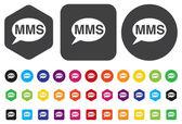 кнопка mms — Cтоковый вектор