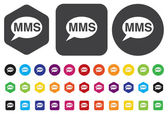 MMS button — Vector de stock