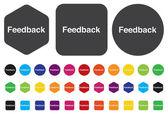 Feedback button — Stock Vector