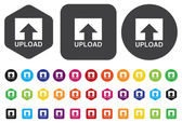 Upload Button, Upload icon and button — Stock Vector