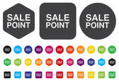 Sale Point Button — Stock Vector